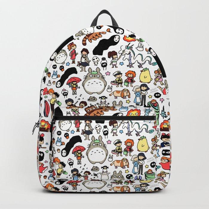 Kawaii Ghibli Doodle Backpack