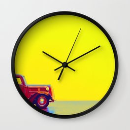 Red Truck gradient neon coloring by Ahmet Asar, Asar Studios Wall Clock