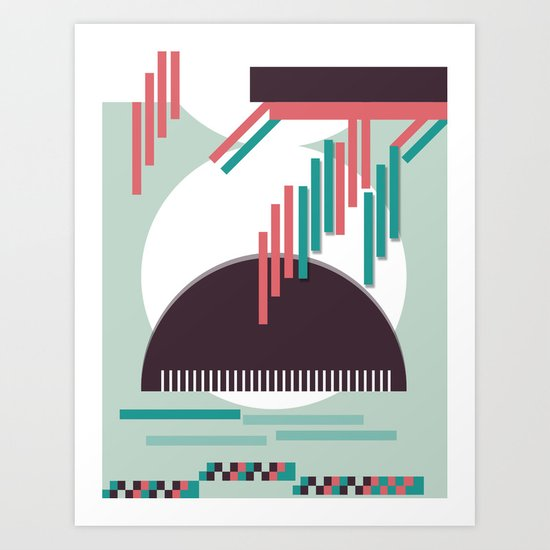Moustache Mountain Art Print