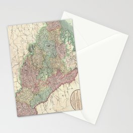 Vintage Map of Belgium & Luxembourg (1804) Stationery Cards