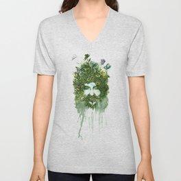God of Nature Greenery Plantdad daddy  Unisex V-Neck