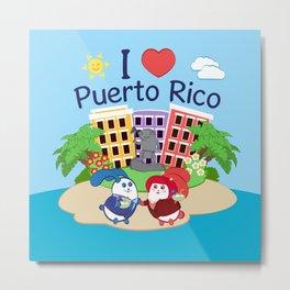 Ernest & Coraline | I love Puerto Rico Metal Print