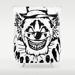 Black and white Evil Clown Shower Curtain