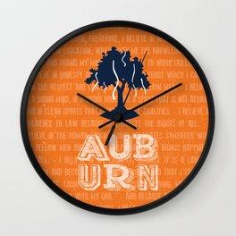 Auburn Creed Wall Clock