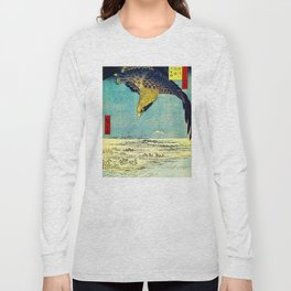 Hiroshige, Hawk Flight Over Field Long Sleeve T-shirt