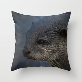 Small Clawed Otter Throw Pillow