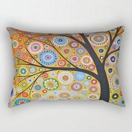 Abstract Art Original Landscape Painting ... Rays of Hope Rectangular Pillow