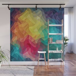 Abstract Color Wave Flash Wall Mural
