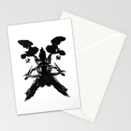 Abstract Skull Therapy Print Stationery Cards