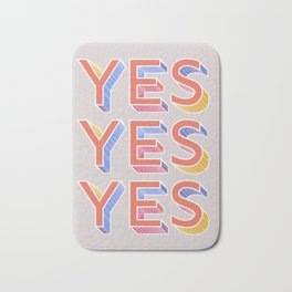 YES - typography Bath Mat