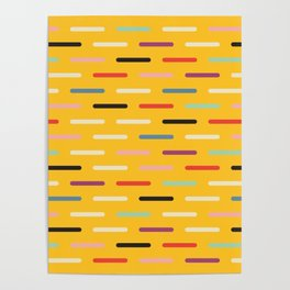 Modern Scandinavian Dash Multi Yellow Poster