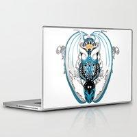 skyfall Laptop & iPad Skins featuring Smoking Skyfall Dragon by Pr0l0gue
