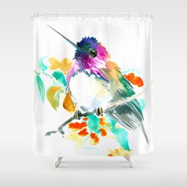 Cute Little Hummingbird Shower Curtain