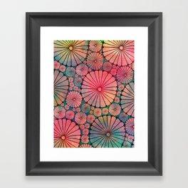 Abstract Floral Circles Framed Art Print