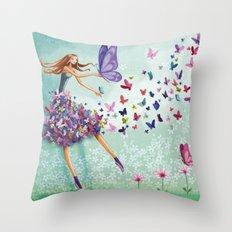 butterflydance Throw Pillow