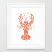 lobster Framed Art Prints featuring Lobster by NoelleGobbi