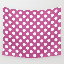 Polka dot pattern/pink background Wall Tapestry