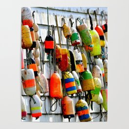 COLOURFUL FISHING FLOATS Poster