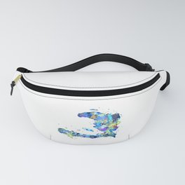 Haiti Map Fanny Pack