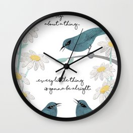 Three Little Birds (Parts 1 and 2) Wall Clock