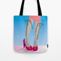 socks Tote Bags featuring Socks by Heidi Sturgess