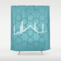 istanbul Shower Curtains featuring Istanbul by Emir Simsek