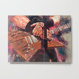 Hetfield's Garage Guitar Metal Print