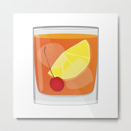 Old Fashioned Cocktail Metal Print