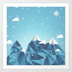 Cool Mountains Art Print