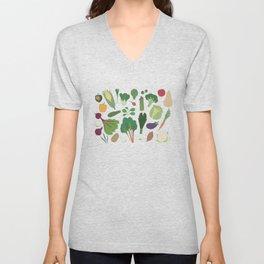 Make Friends With Vegetables Unisex V-Neck