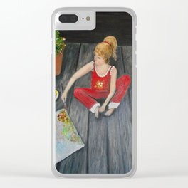 The Emerging Artist- see the difference  Clear iPhone Case