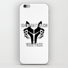 104th Battalion Wolfpack iPhone Skin