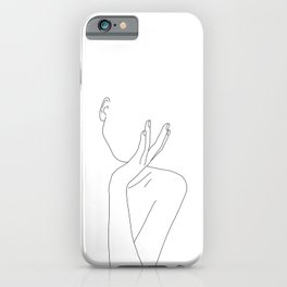 Woman's body line drawing illustration - Darla iPhone Case