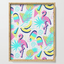 80s Flashback Tropical Fun Serving Tray