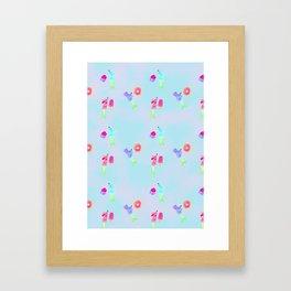 Mermice Love Sweets Framed Art Print