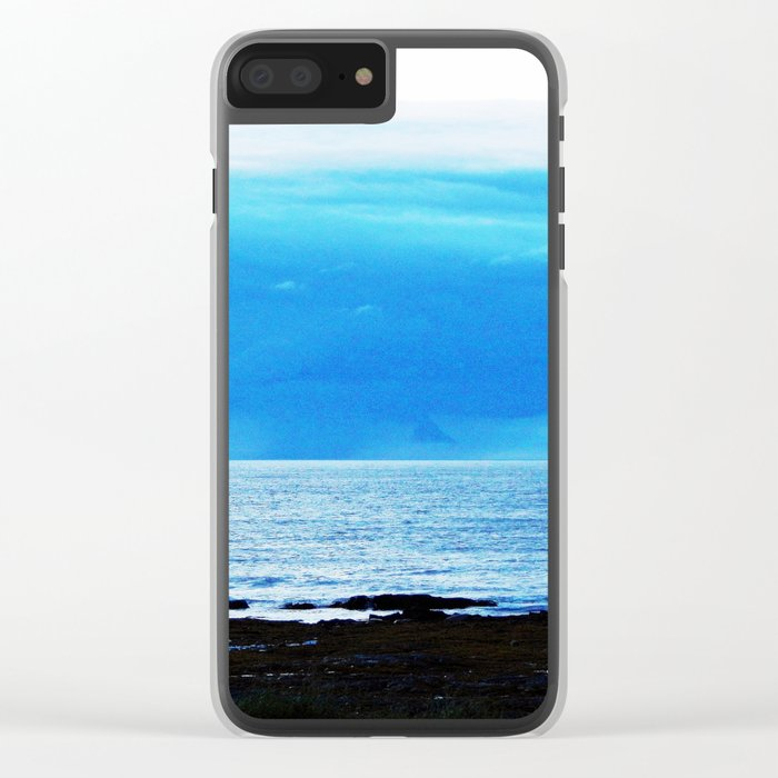 Storm Funnels Above the Sea Clear iPhone Case