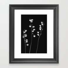 Lily of the Valley Noir Framed Art Print