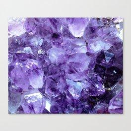 Amethyst Crystals Canvas Print