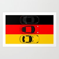 german Art Prints featuring German Horsepower by Blayde