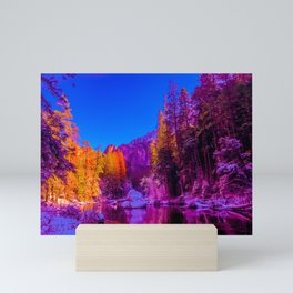 Yosemite winter forest gradient 0488 Mini Art Print