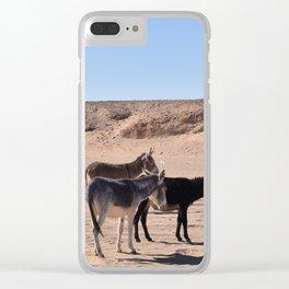 Sahara Donkeys Clear iPhone Case