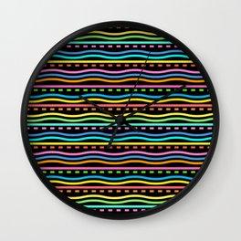 Black Zig Zag Wall Clock