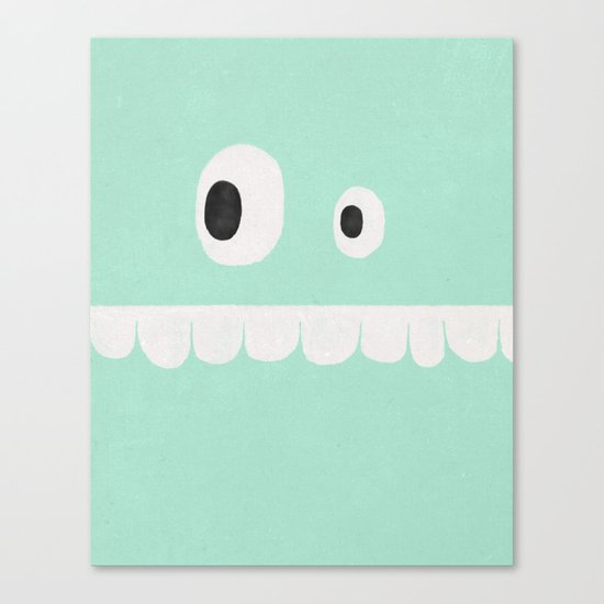 Face VI (mint green) Canvas Print