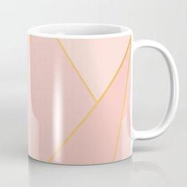 Elegant Pink Rose Gold Geometric Abstract Coffee Mug