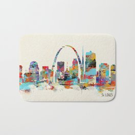 saint louis missouri skyline Bath Mat