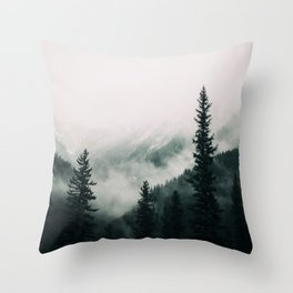 Over the Mountains and trough the Woods -  Forest Nature Photography Throw Pillow