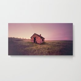 Abandoned Stone House on The Prairie Metal Print