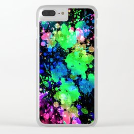 Splashed-PB-11 Clear iPhone Case
