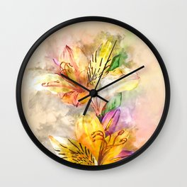 Lily Stole My Heart Wall Clock