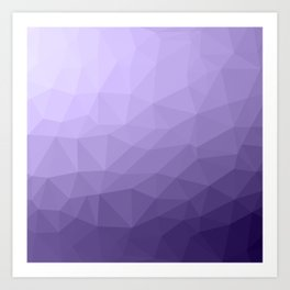 Ultra violet purple geometric mesh pattern Art Print